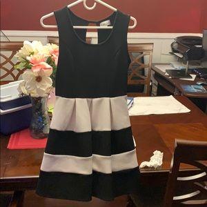 Black and white juniors dress